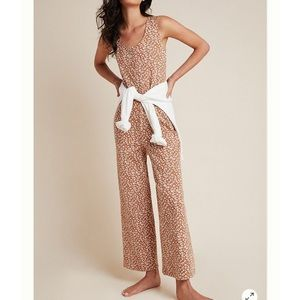 NWT Anthropologie Leopard Jumpsuit